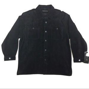 Men's Vintage Claiborne Suede Leather Shirt Jacket